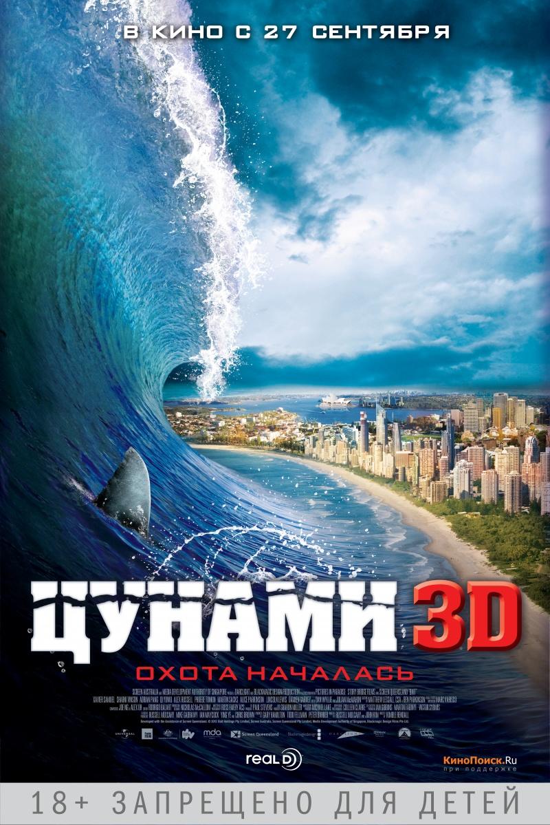 плакат фильма постер локализованные Цунами 3D