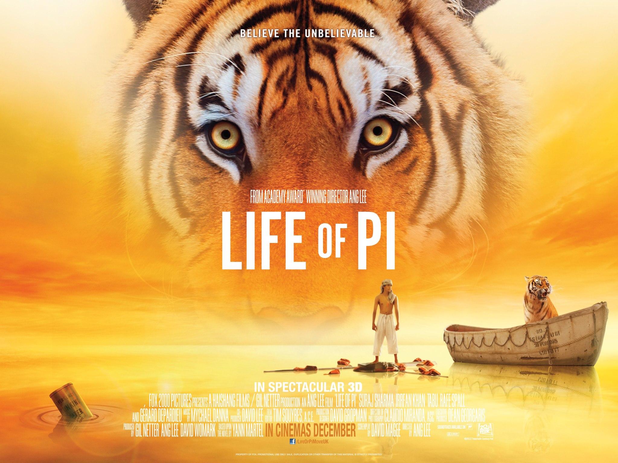 плакат фильма биллборды Жизнь Пи
