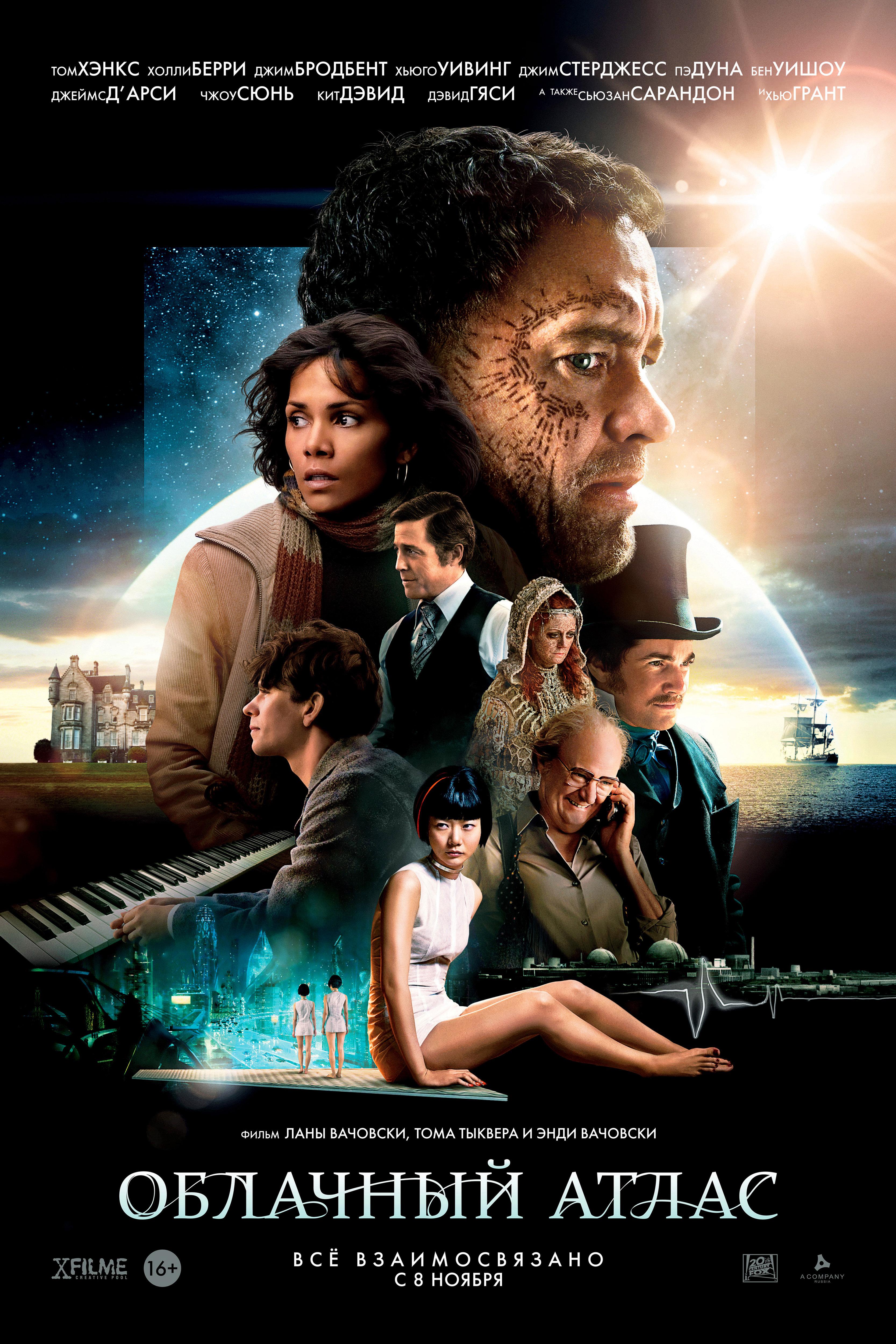 плакат фильма постер локализованные Облачный атлас