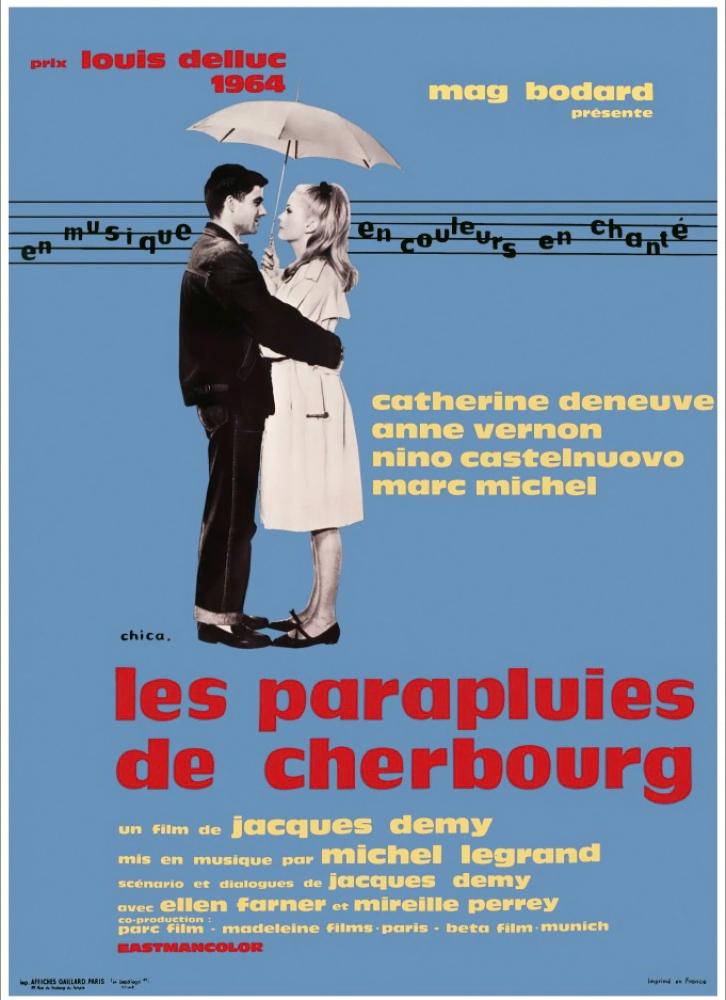 плакат фильма постер Шербурские зонтики