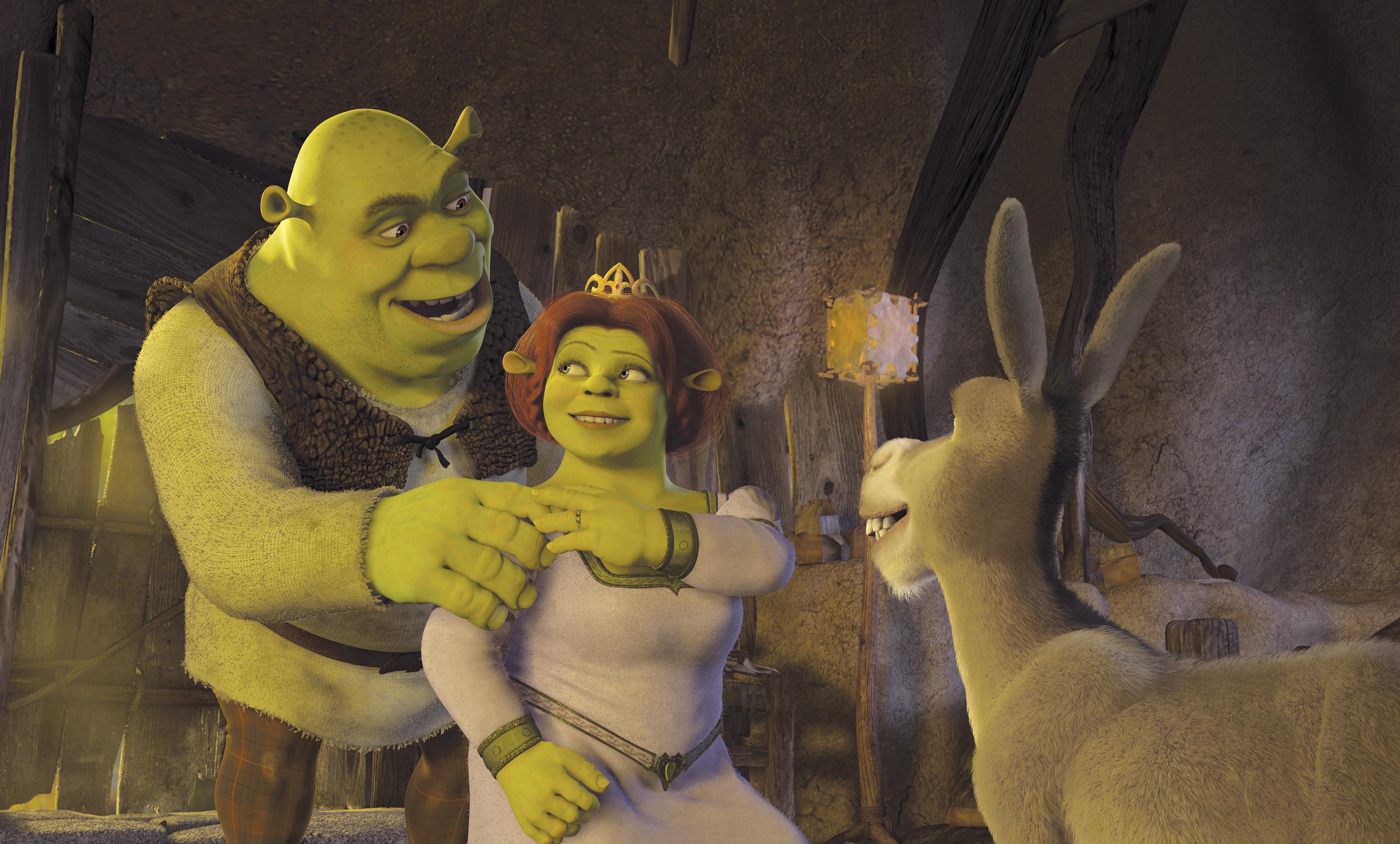 кадры из фильма Шрэк 2