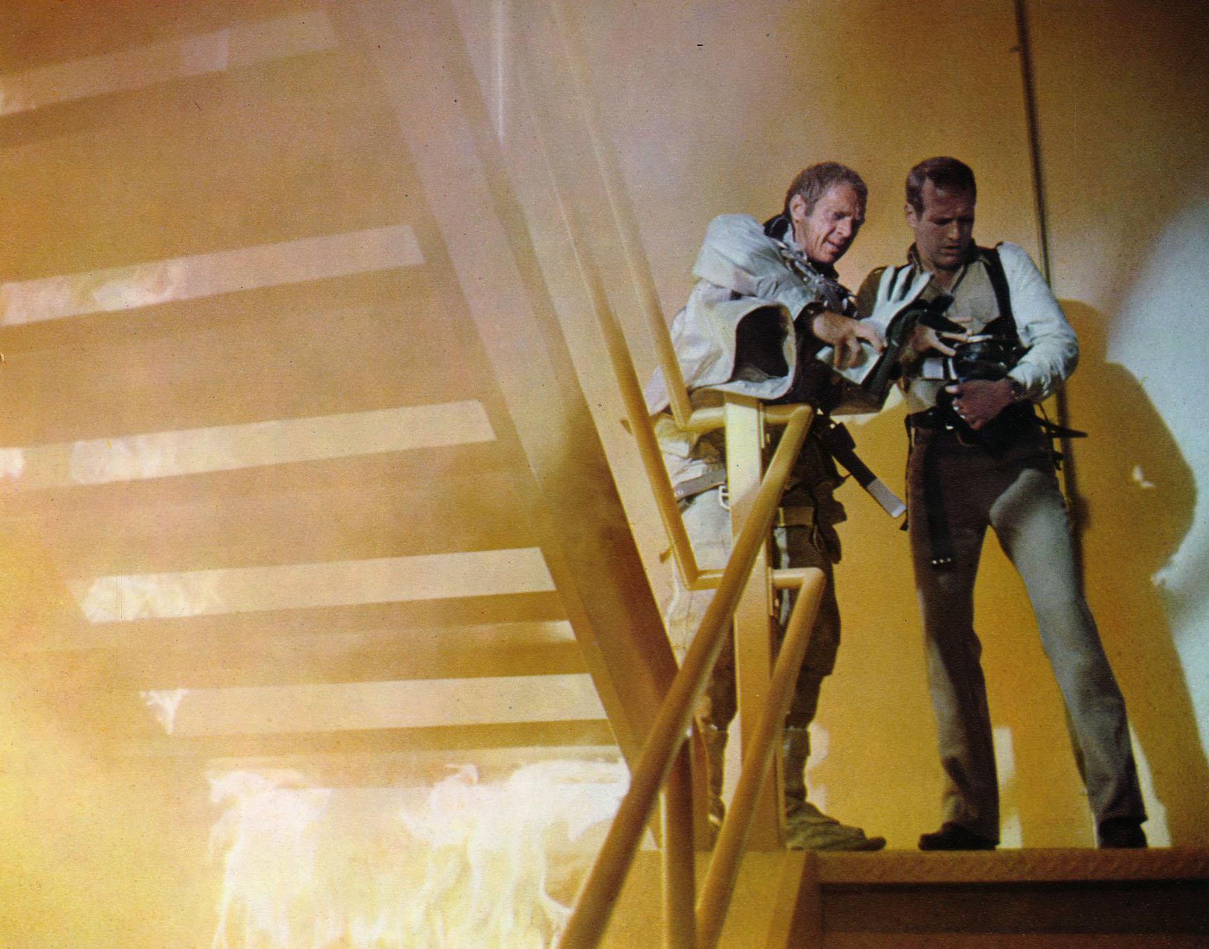 кадры из фильма Ад в поднебесье Пол Ньюман, Стив МакКуин (I),