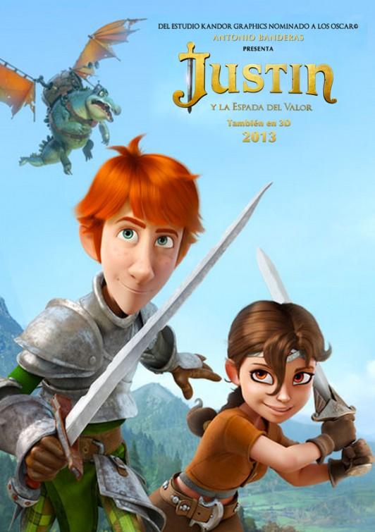 плакат фильма постер Джастин и рыцари доблести