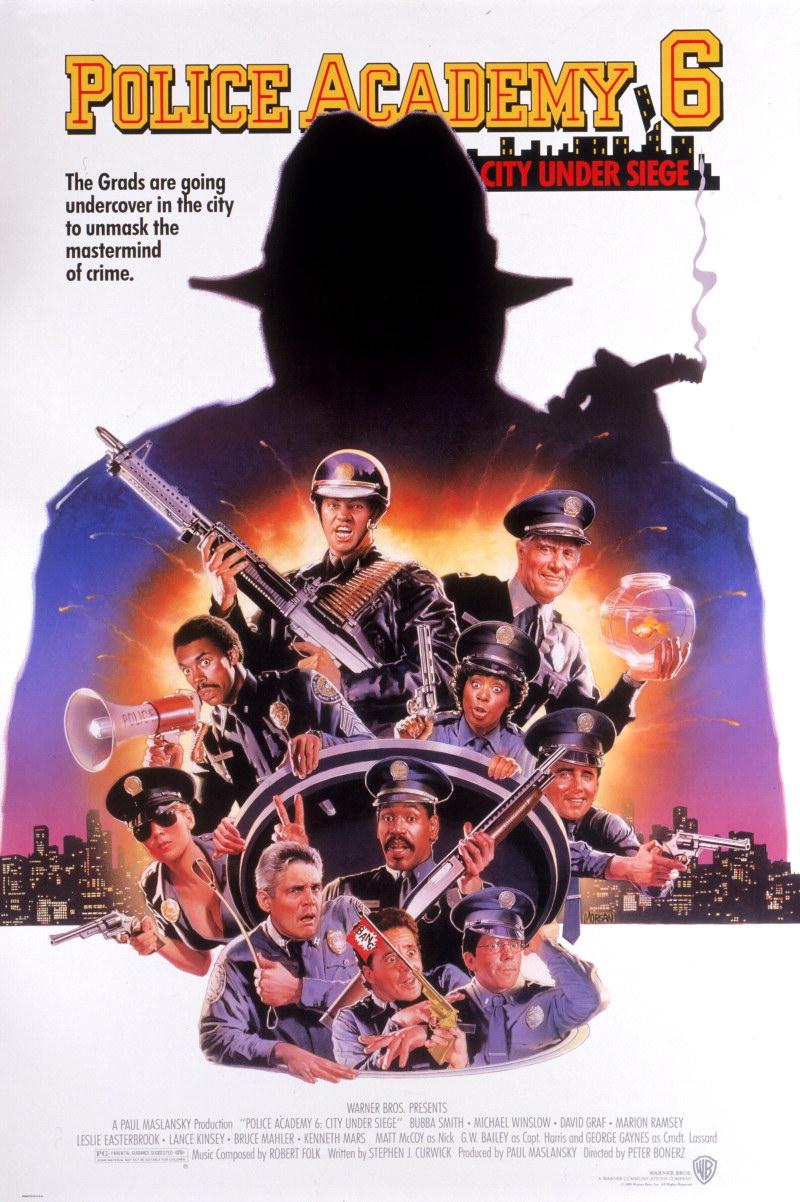 плакат фильма постер Полицейская академия 6: Город в осаде