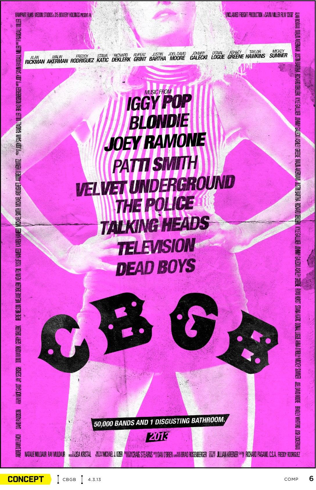 плакат фильма характер-постер CBGB*