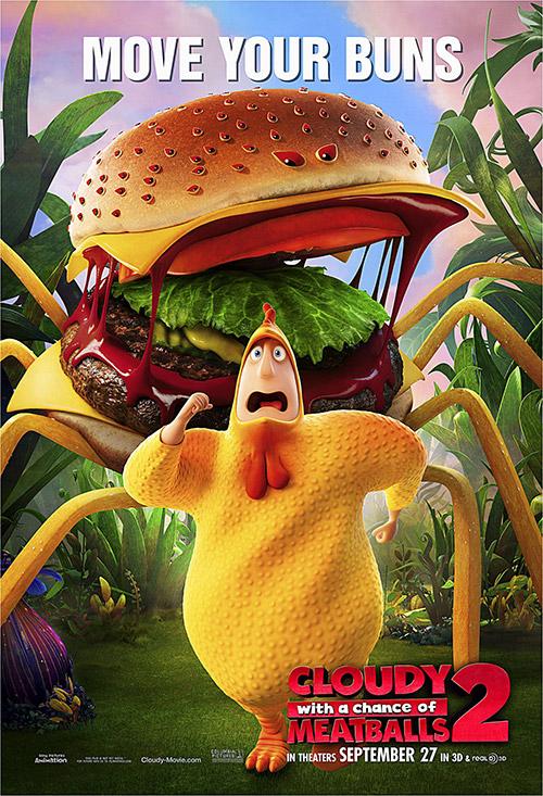 плакат фильма характер-постер Облачно… 2: Месть ГМО