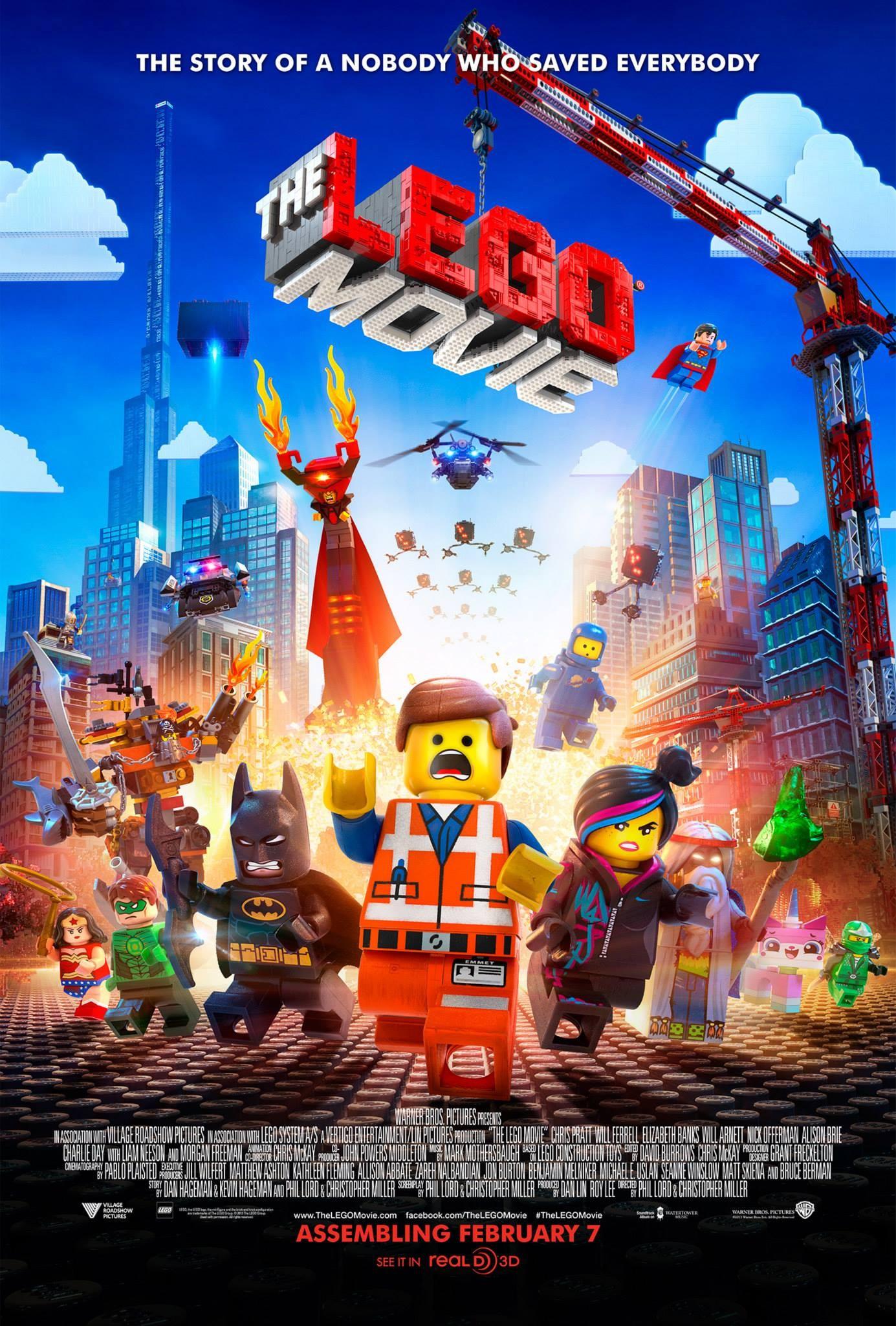 плакат фильма постер Лего Фильм