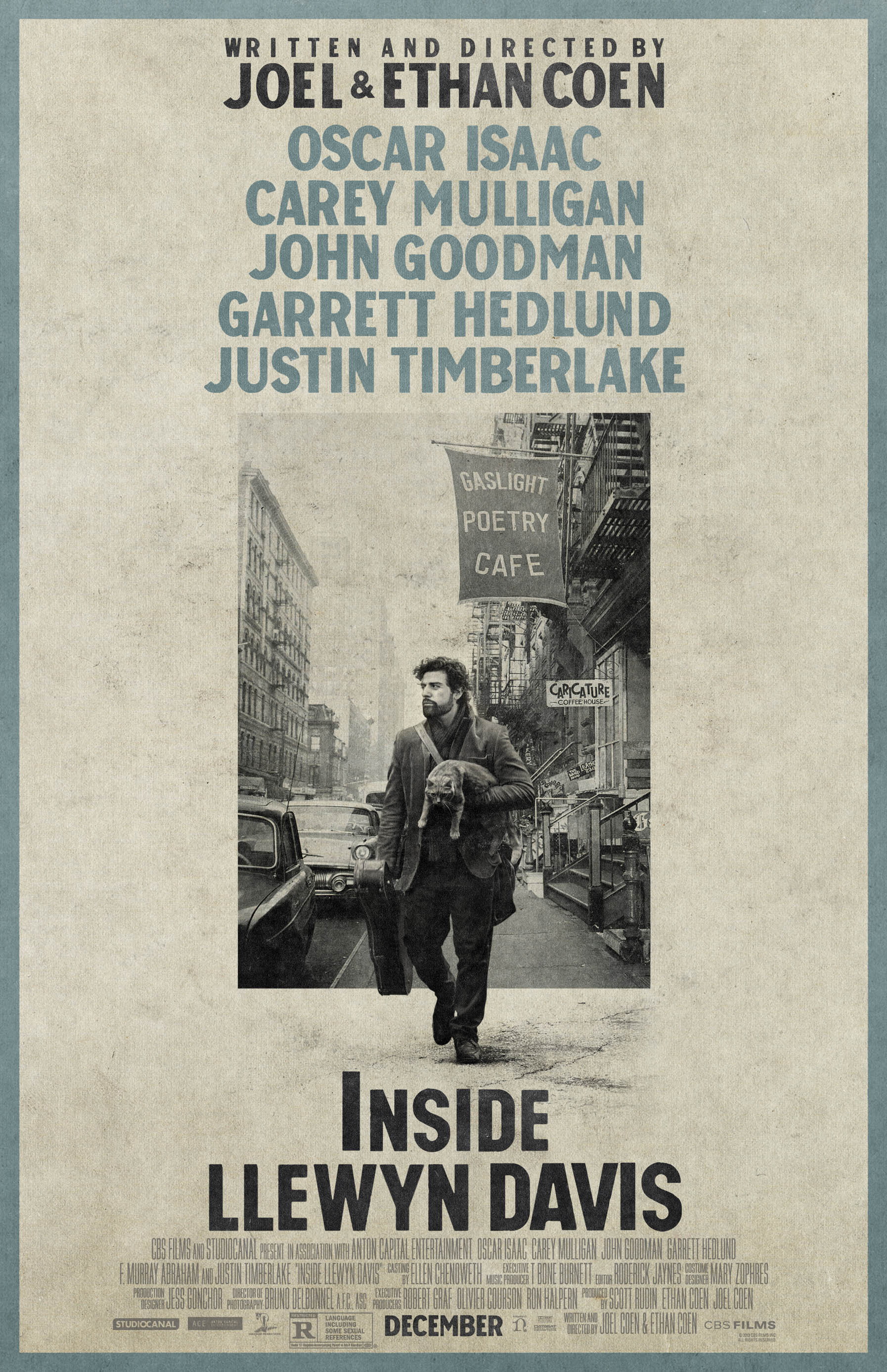плакат фильма постер Внутри Льюина Дэвиса