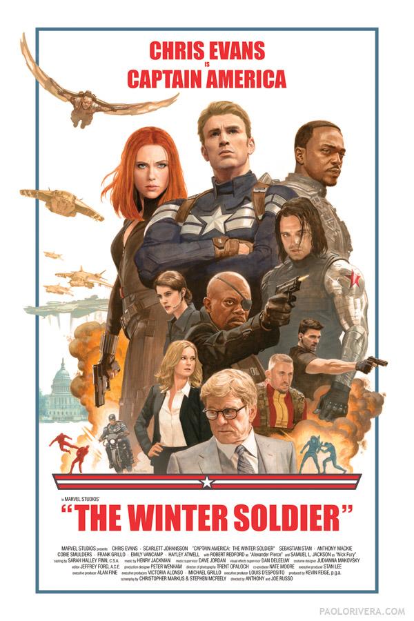 плакат фильма арт-постеры Первый Мститель: Другая война