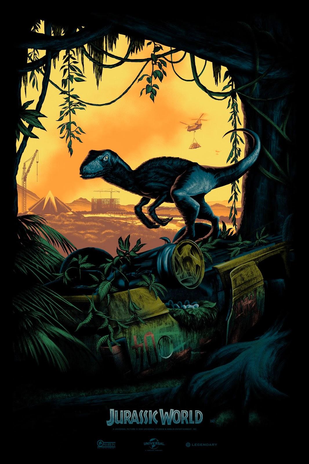 плакат фильма арт-постеры Мир Юрского периода
