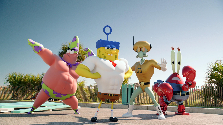 кадры из фильма Губка Боб в 3D