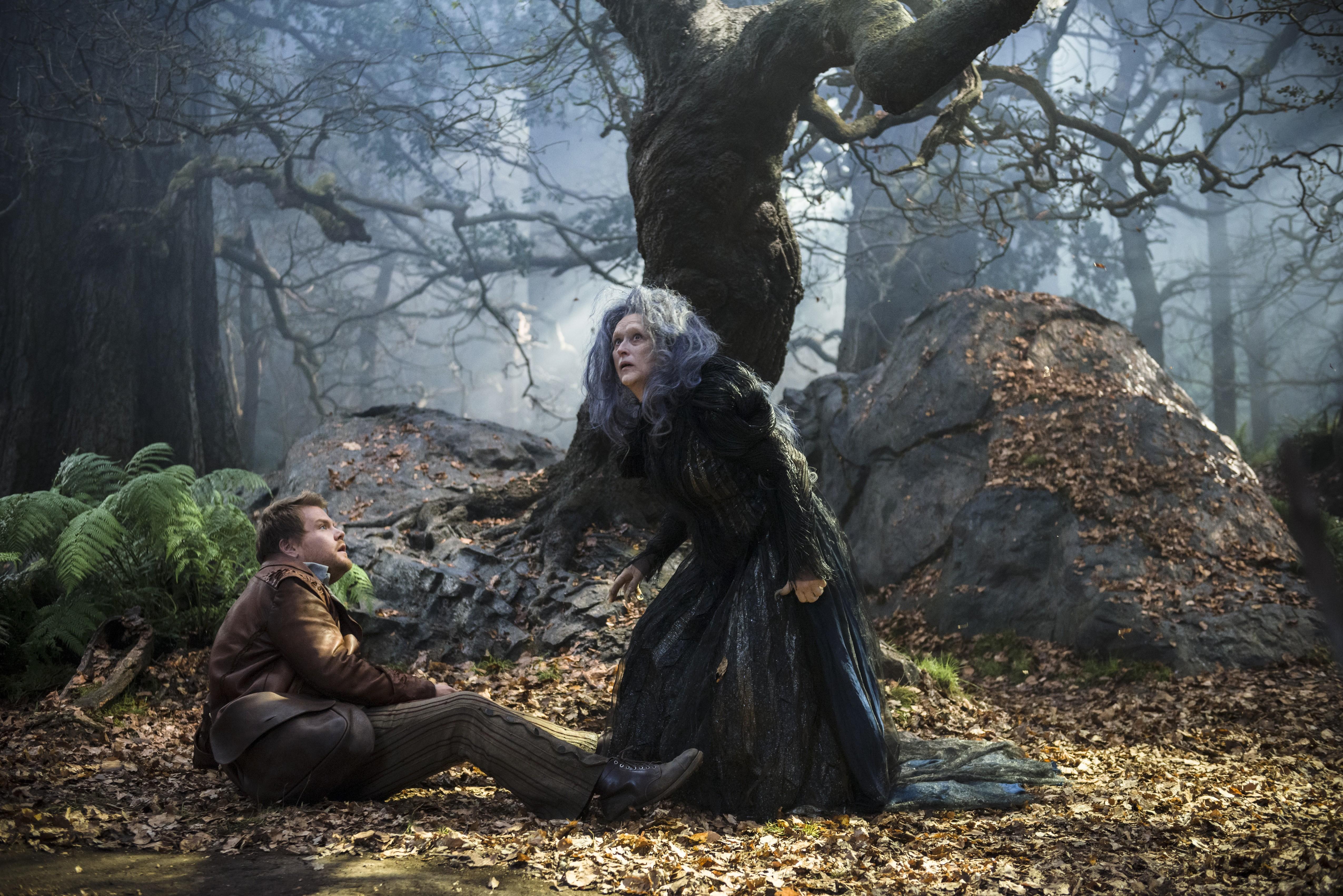 кадры из фильма Чем дальше в лес… Джеймс Корден, Мерил Стрип,