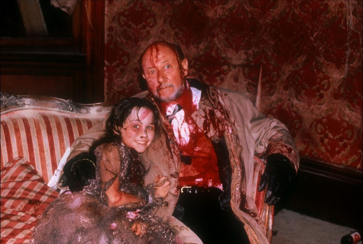 со съемок Хэллоуин 5: Месть Майкла Майерса Дональд Плизенс, Даниель Харрис,