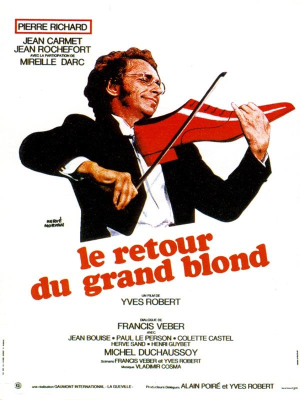 плакат фильма постер Возвращение высокого блондина