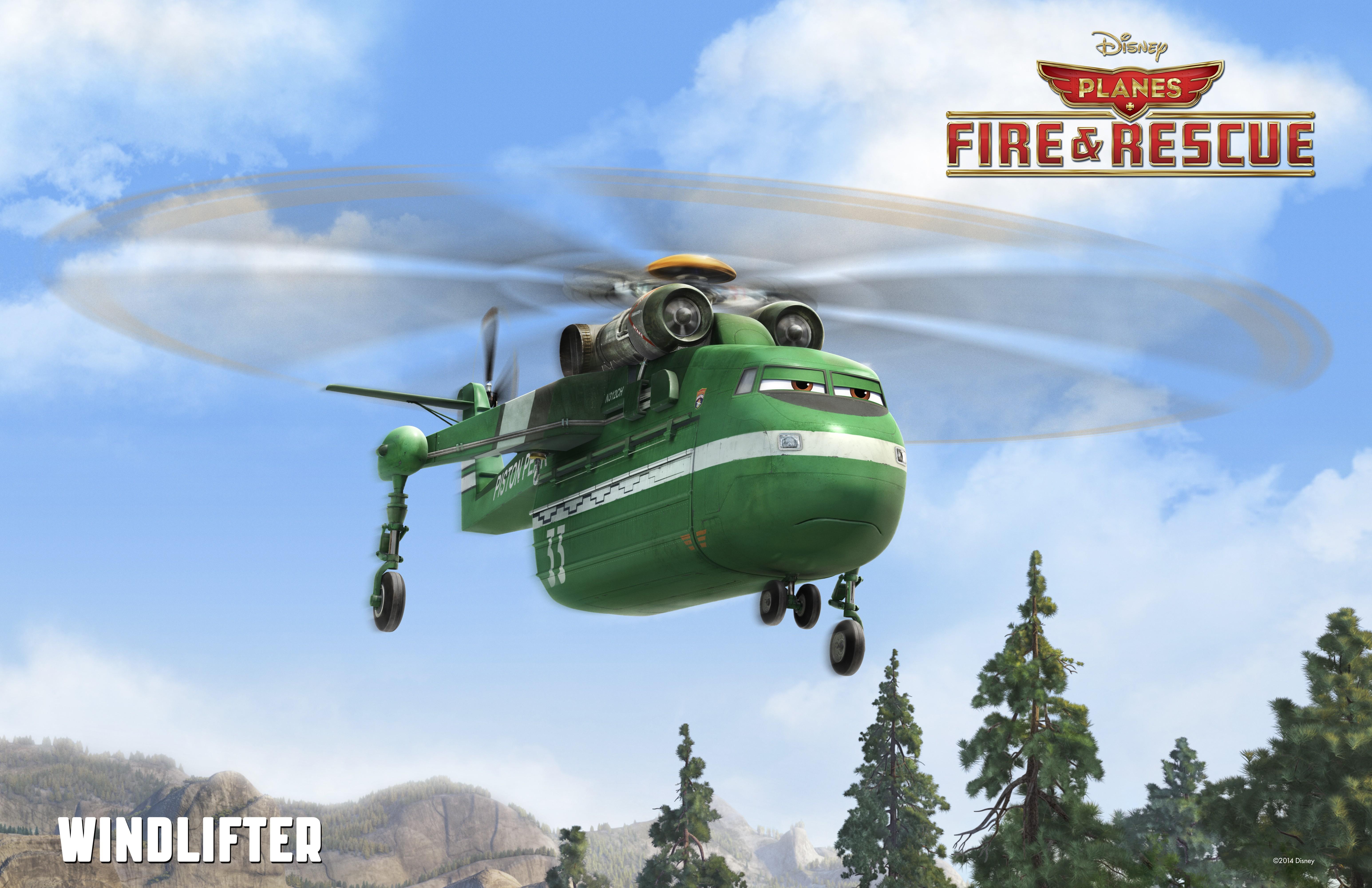 промо-слайды Самолёты: Огонь и вода
