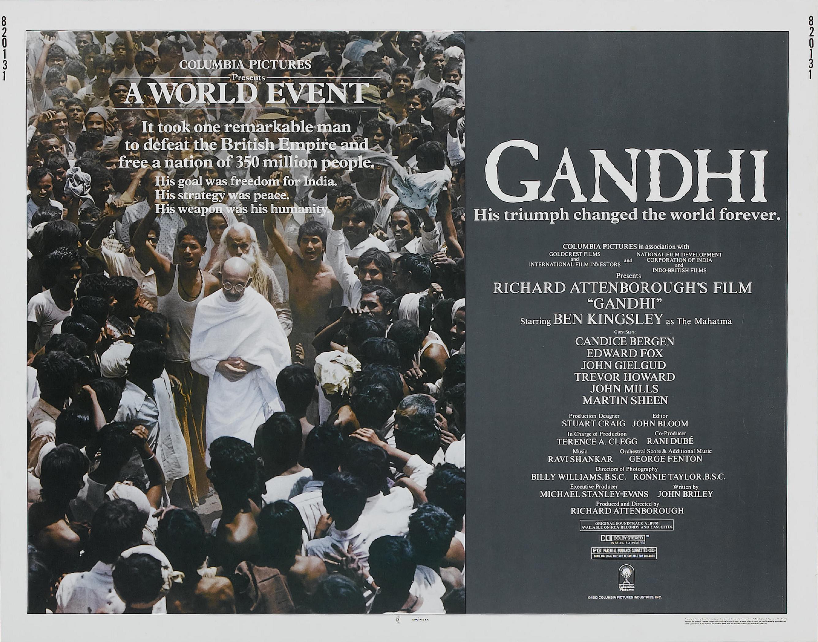 плакат фильма баннер Ганди