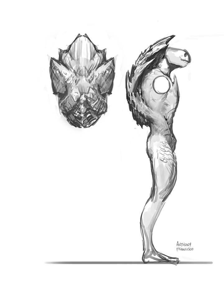 неиспользованный эскиз Черепашки-ниндзя