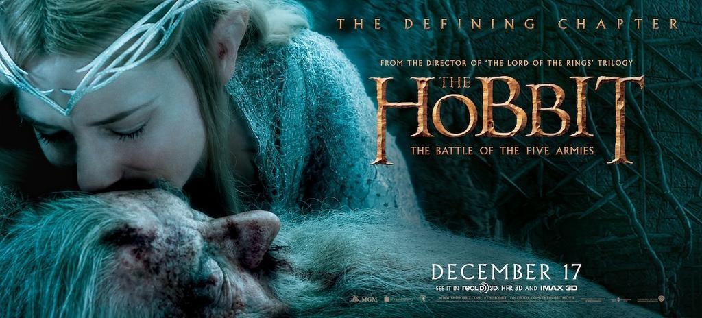 плакат фильма баннер Хоббит: Битва пяти воинств