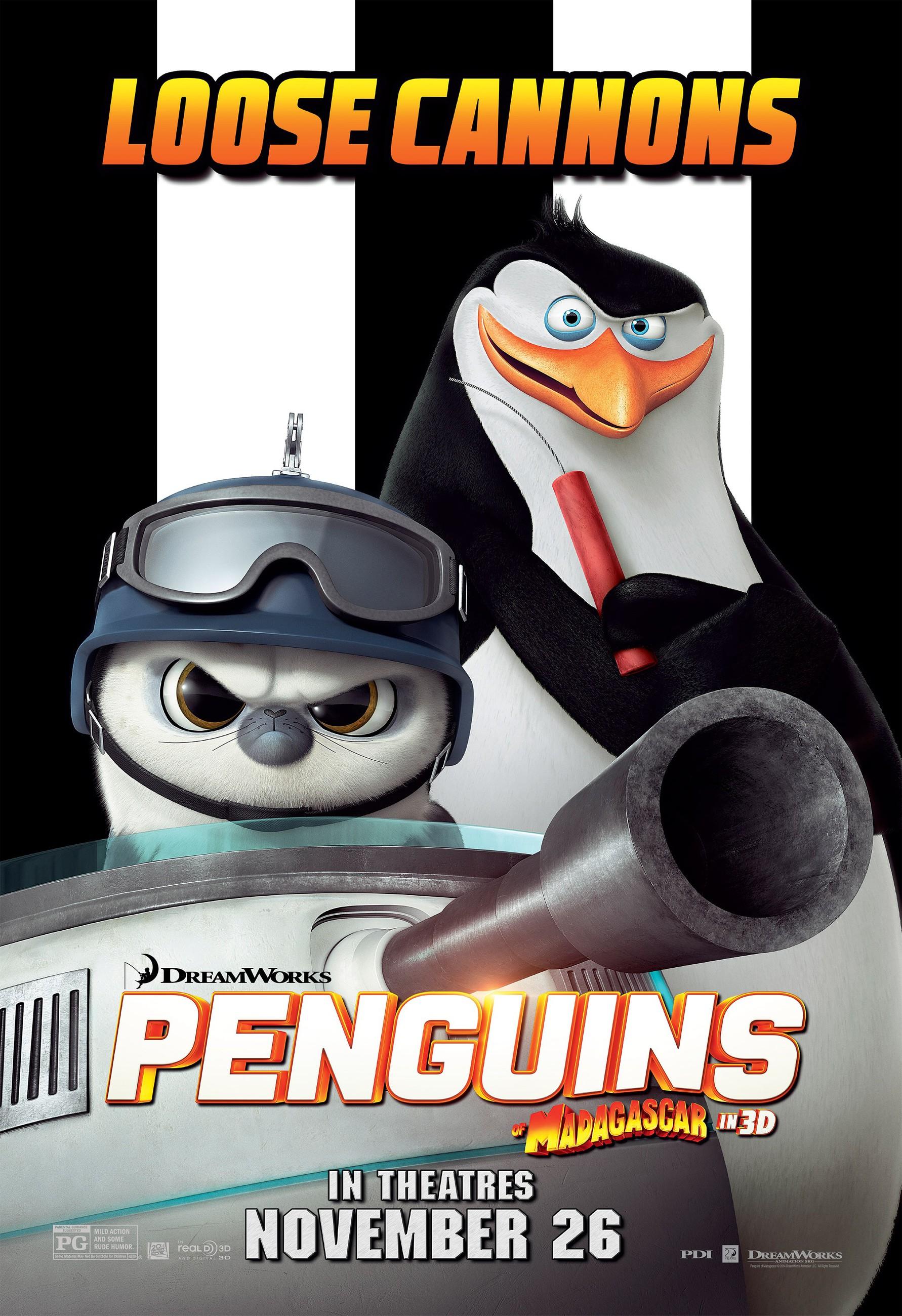 плакат фильма характер-постер Пингвины Мадагаскара