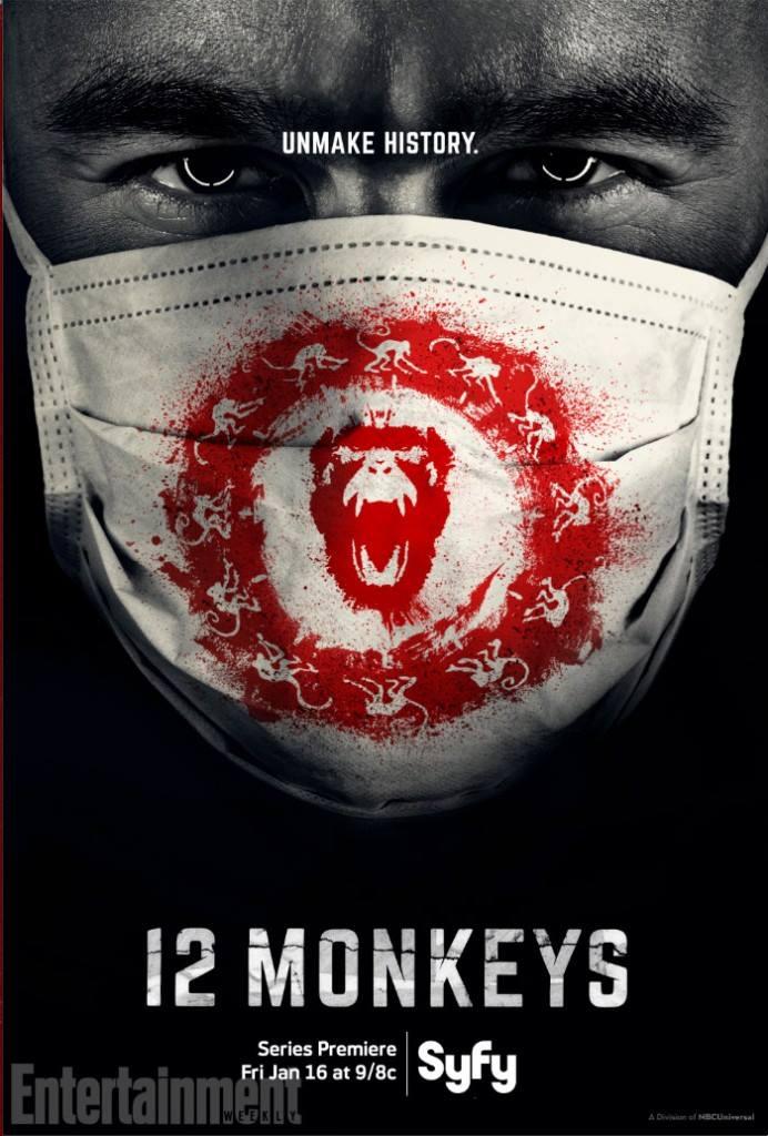 плакат фильма постер 12 обезьян*