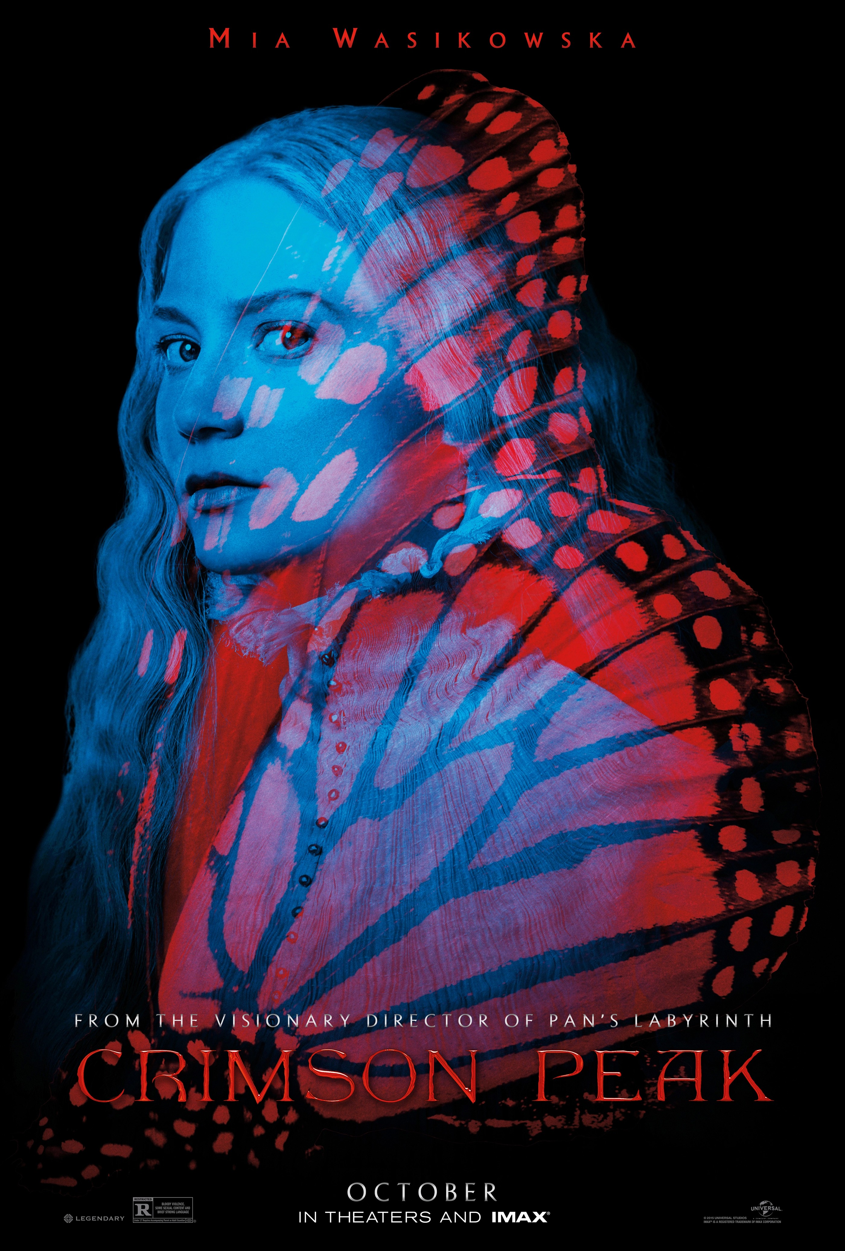 плакат фильма характер-постер Багровый пик