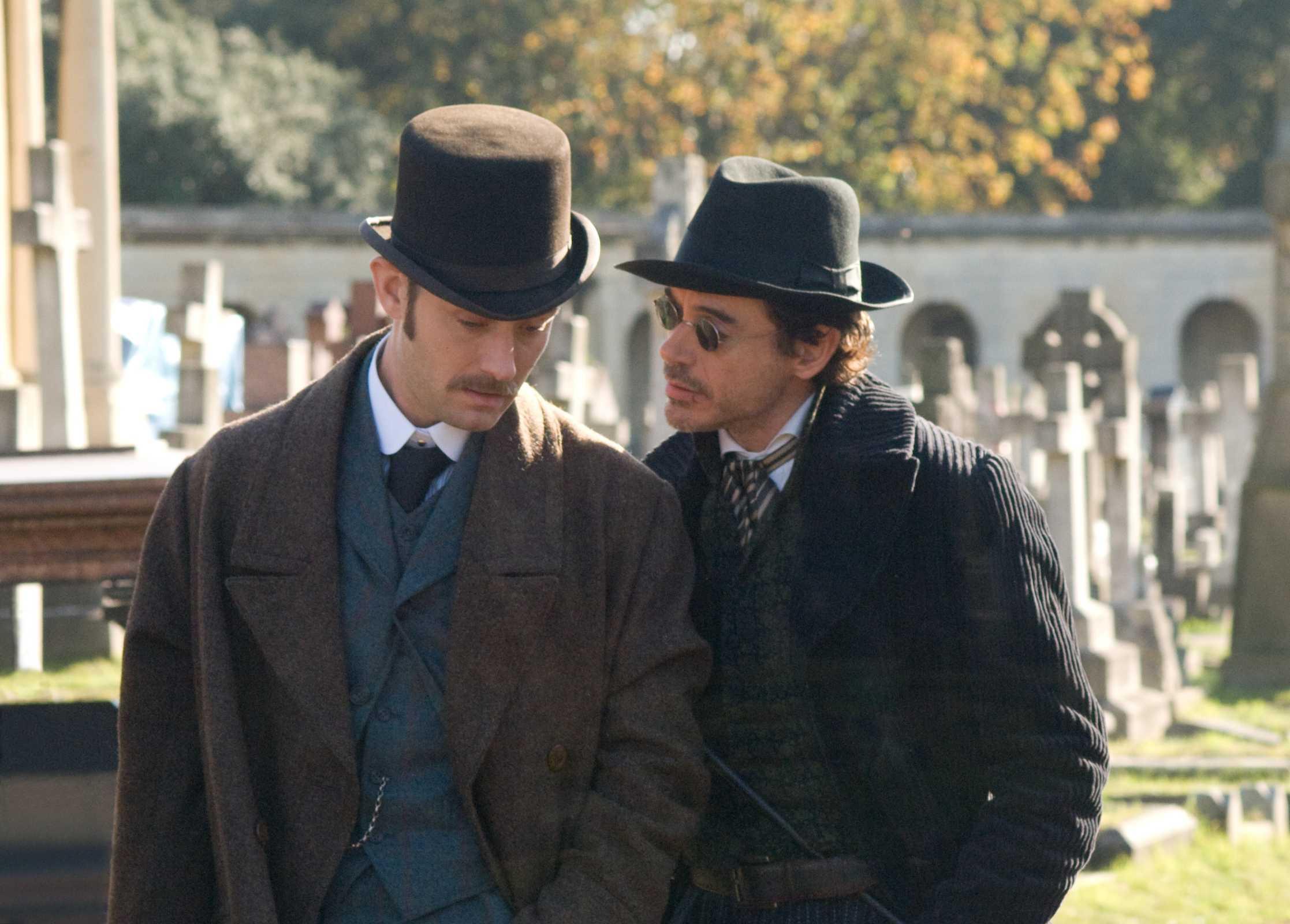 кадры из фильма Шерлок Холмс Джуд Лоу, Роберт Дауни-мл.,