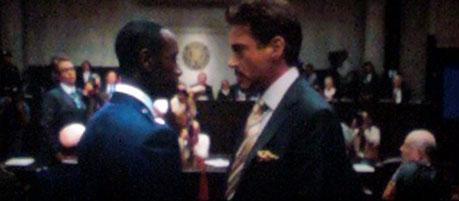 кадры из фильма Железный человек 2 Дон Чидл, Роберт Дауни-мл.,