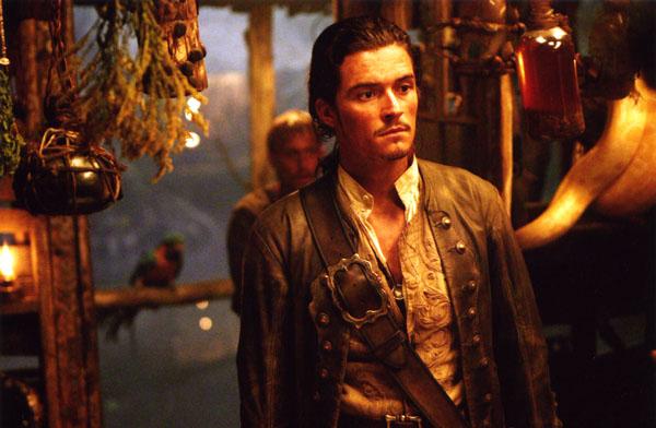 кадры из фильма Пираты Карибского моря: Сундук мертвеца Орландо Блум,