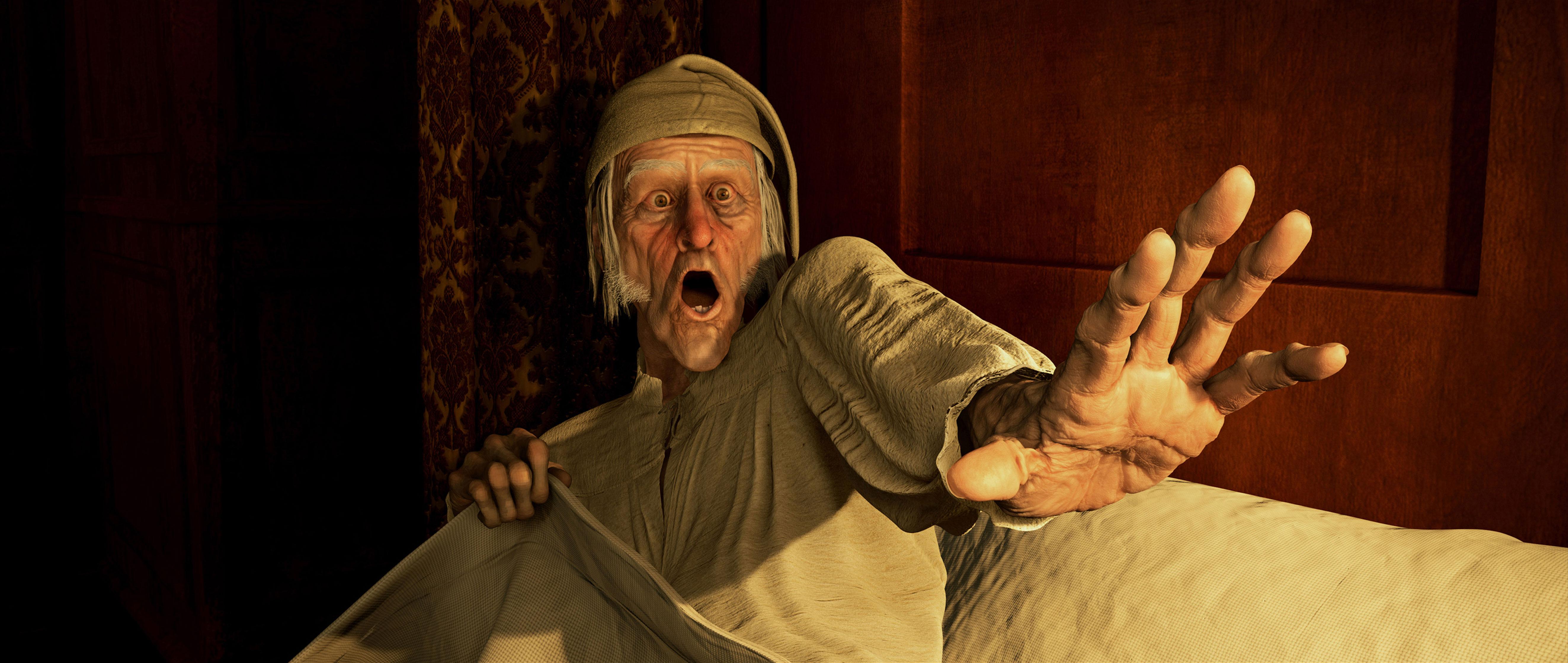 кадры из фильма Рождественская история 3D Джим Кэрри,