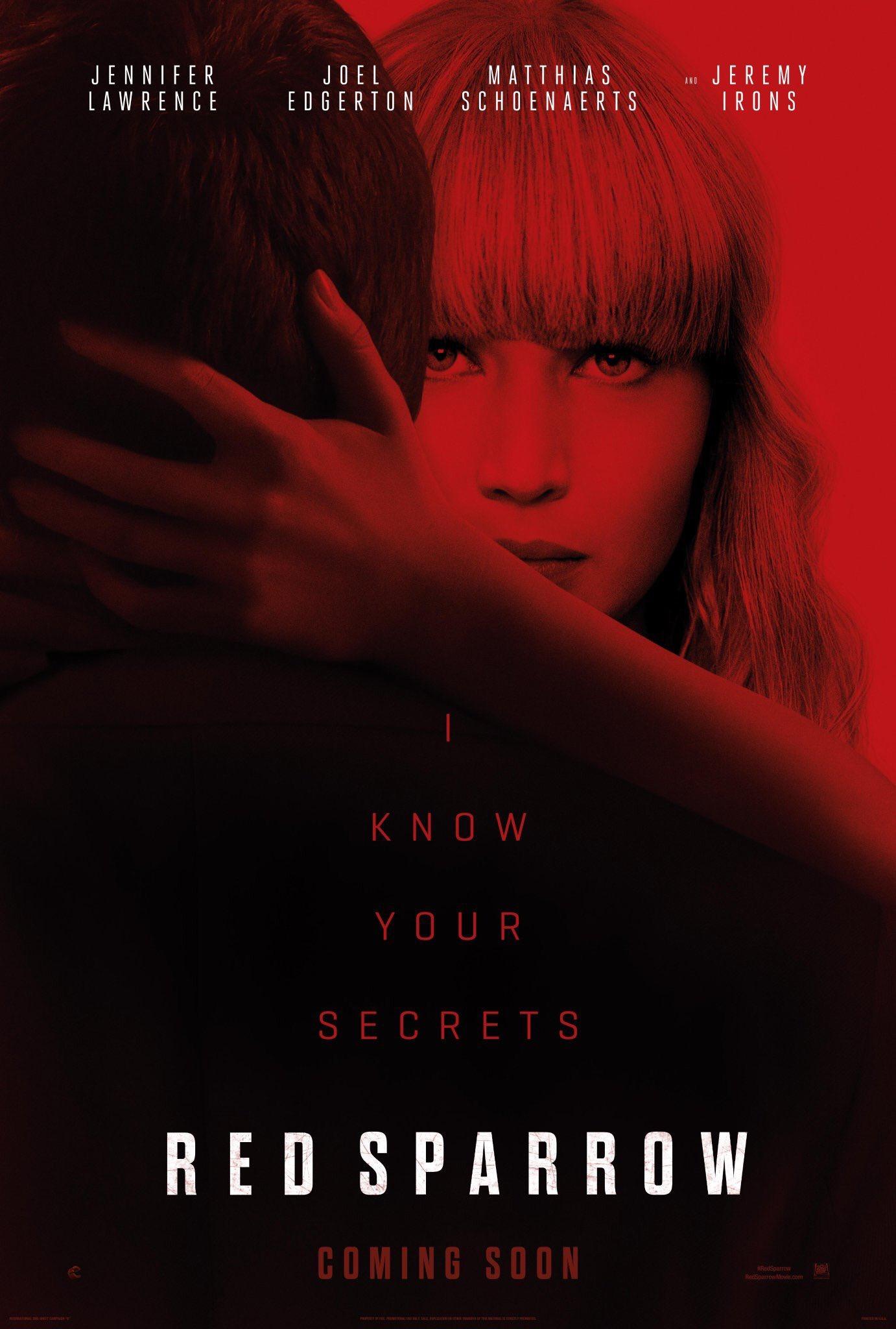 плакат фильма постер Красный воробей