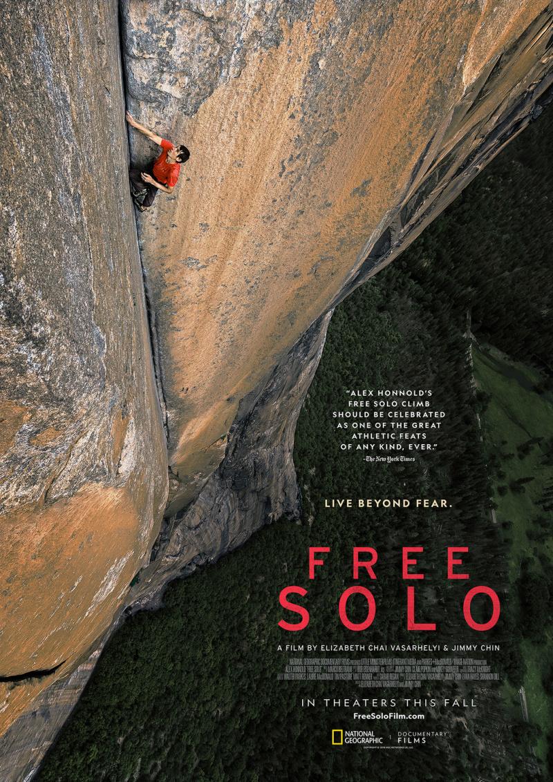 плакат фильма постер Свободный подъем в одиночку