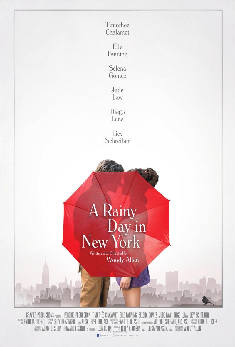плакат фильма постер Дождливый день в Нью-Йорке