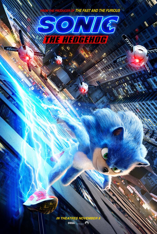 плакат фильма постер Соник в кино