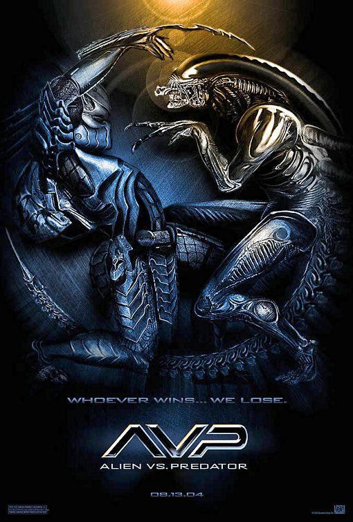 плакат фильма Чужой против Хищника