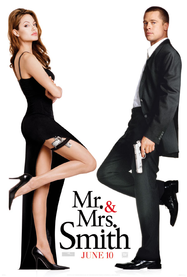 плакат фильма Мистер и миссис Смит