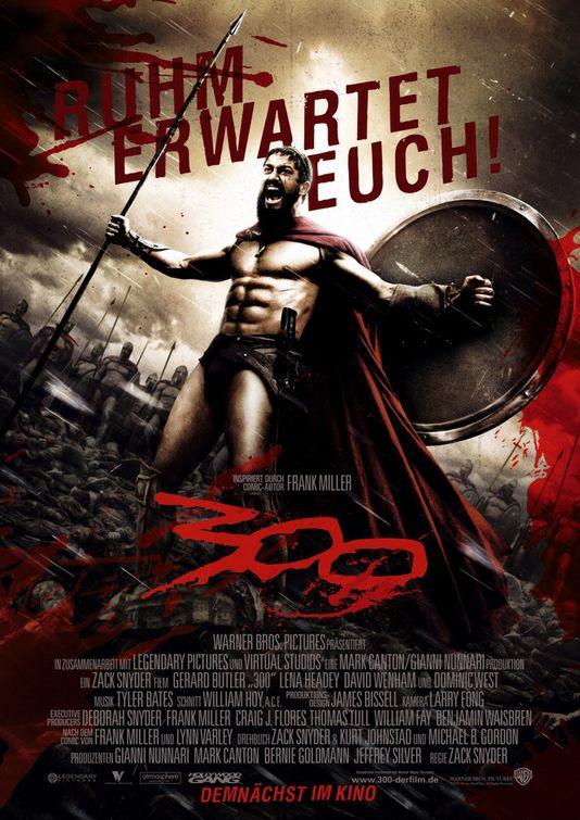 плакат фильма 300 спартанцев