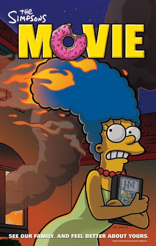 плакат фильма Симпсоны в кино