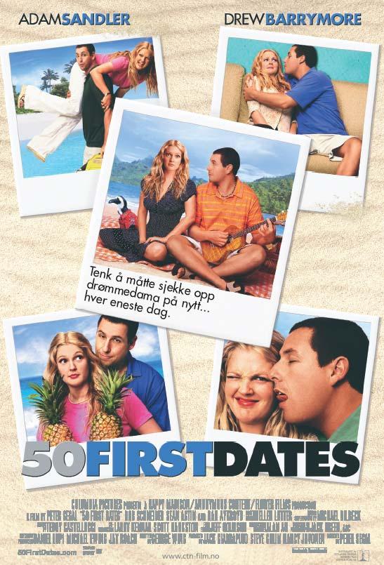плакат фильма 50 первых поцелуев