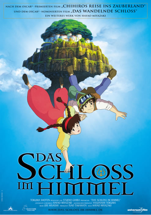 плакат фильма Небесный замок Лапута