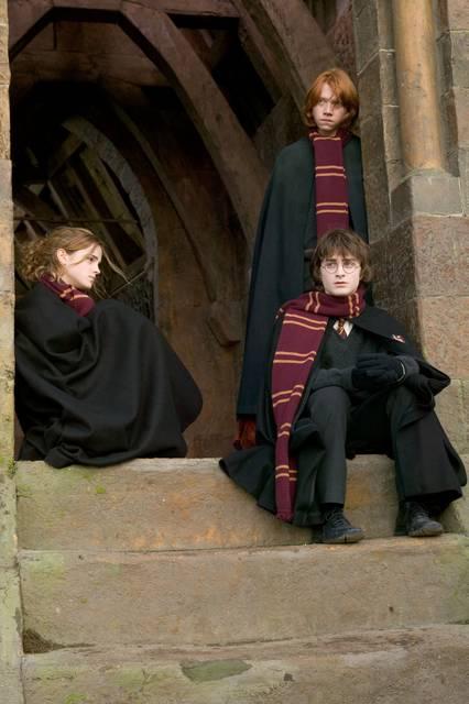 кадры из фильма Гарри Поттер и Кубок Огня Эмма Уотсон, Руперт Гринт, Дэниэл Рэдклифф,