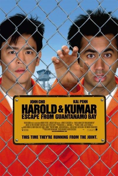 плакат фильма Гарольд и Кумар: Побег из Гуантанамо