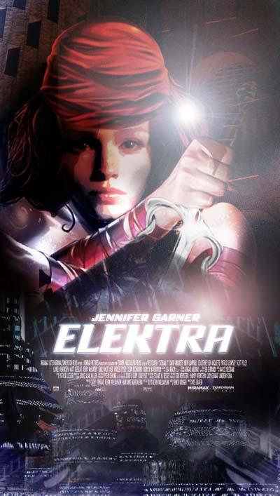 плакат фильма сейлс-арт Электра