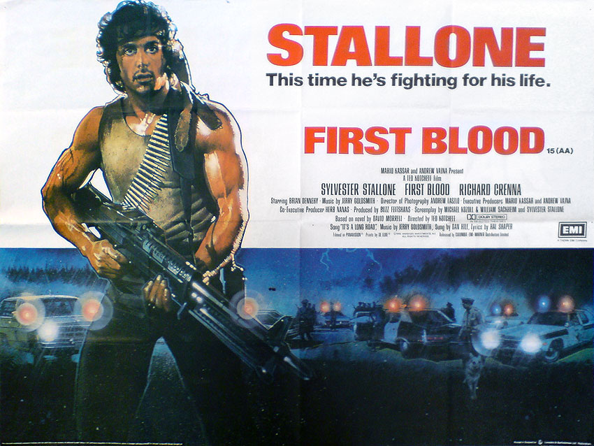плакат фильма Рэмбо: Первая кровь