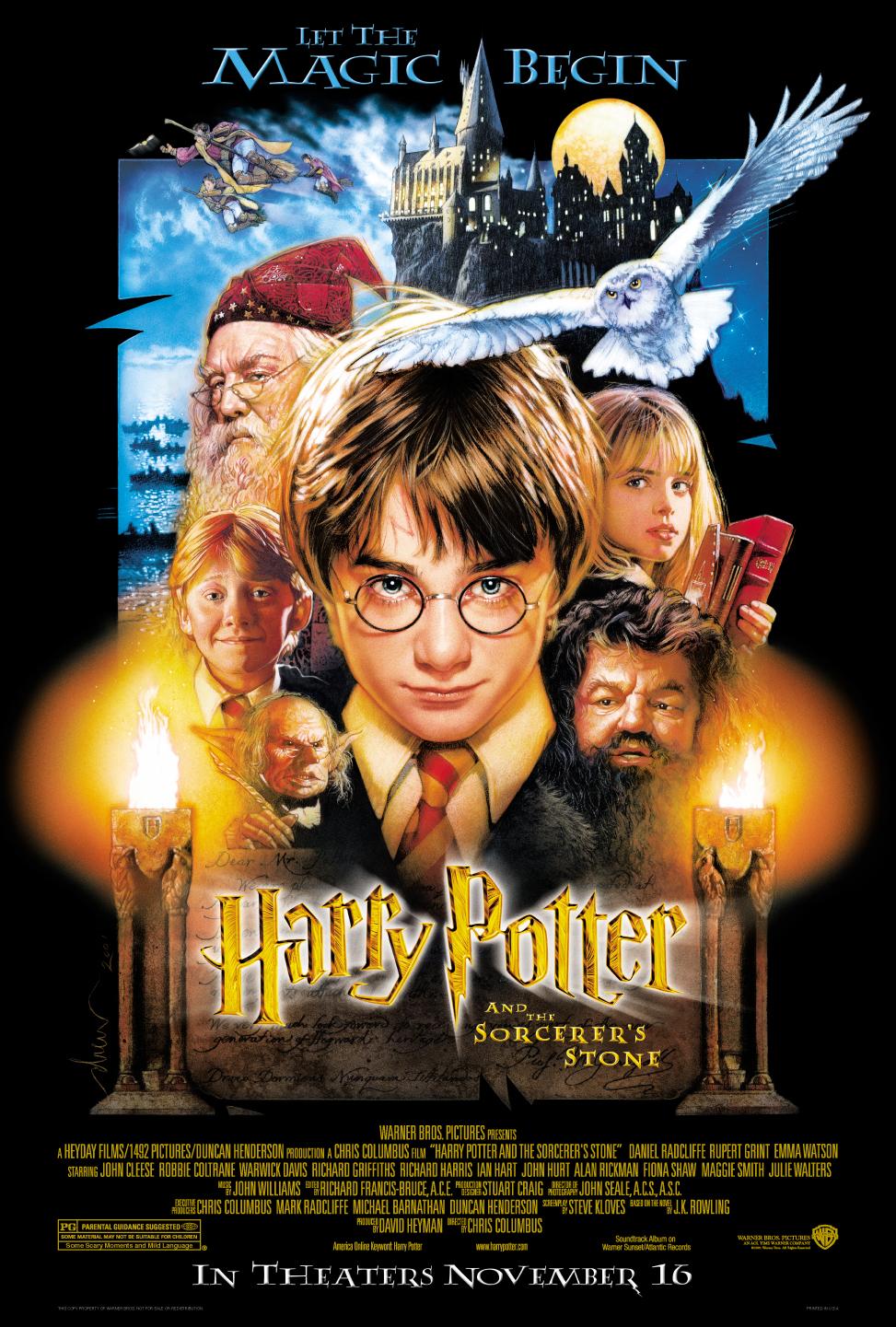 плакат фильма постер Гарри Поттер и Философский камень