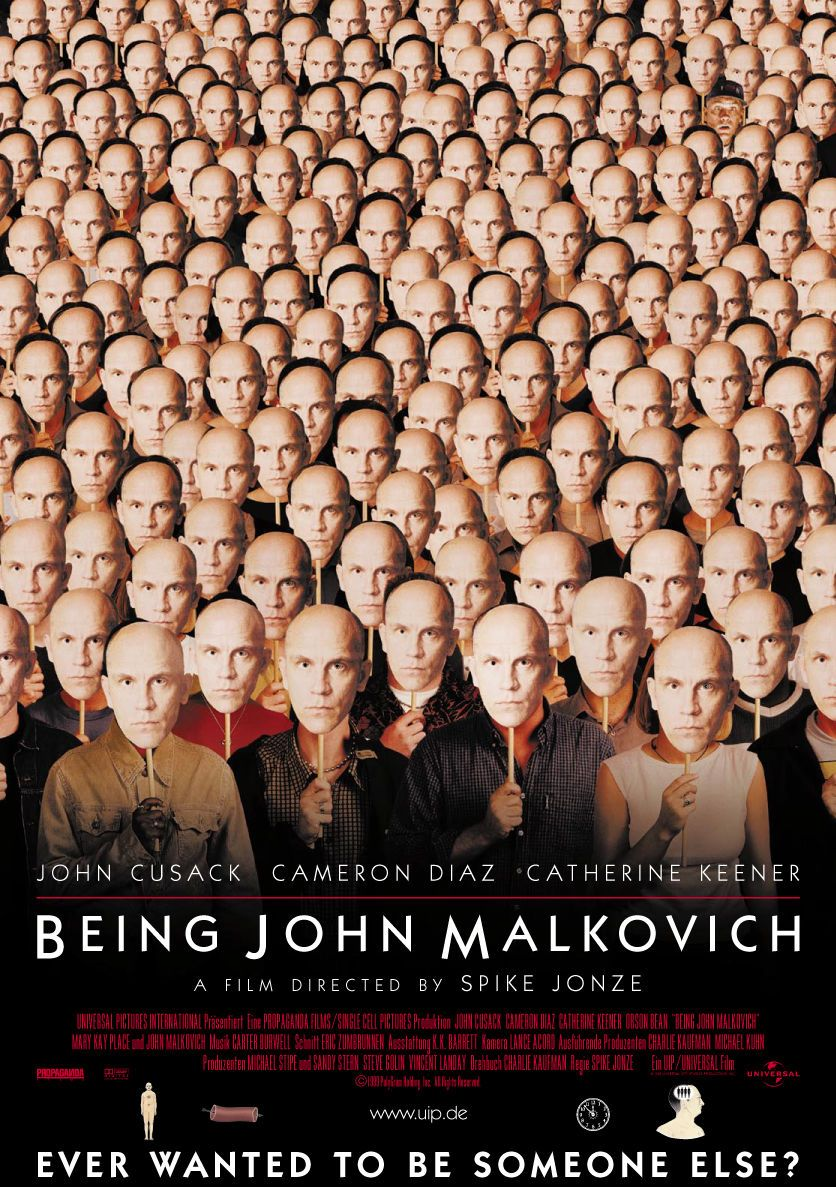 плакат фильма Быть Джоном Малковичем