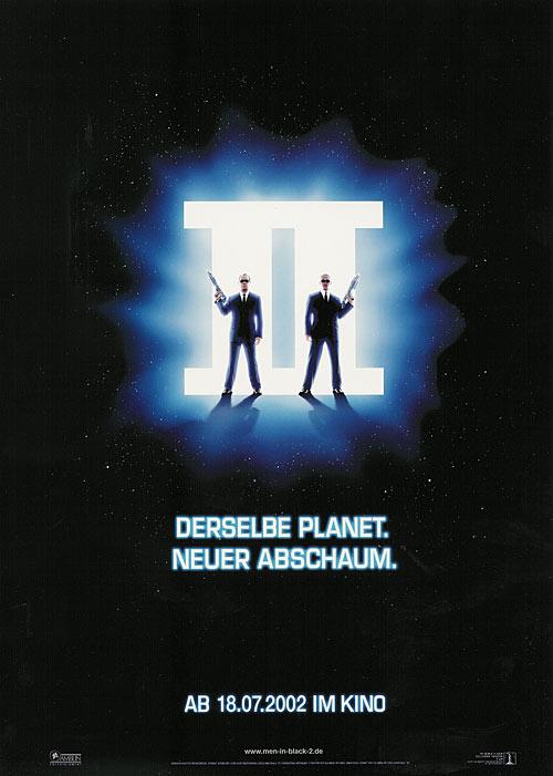 плакат фильма Люди в черном II