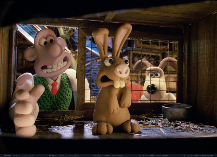 кадры из фильма Уоллес и Громит: Проклятие кролика-оборотня