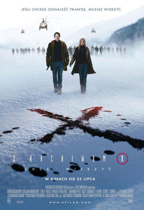 плакат фильма Секретные материалы: Хочу верить