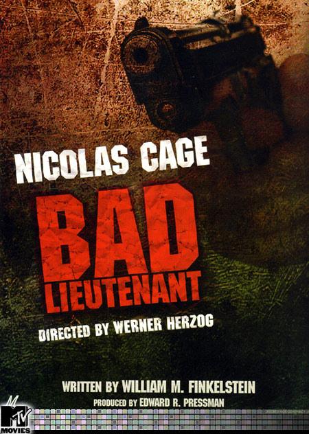 плакат фильма Плохой лейтенант
