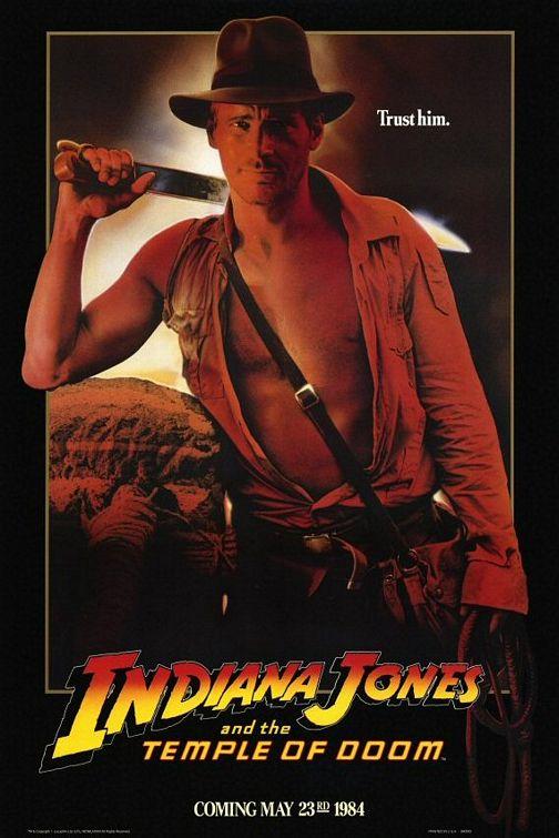 плакат фильма Индиана Джонс и Храм судьбы
